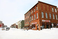 Queen & Water (Martin Cathrae) Tags: snow canada building downtown snowstorm waterstreet pei queenstreet charlottetown