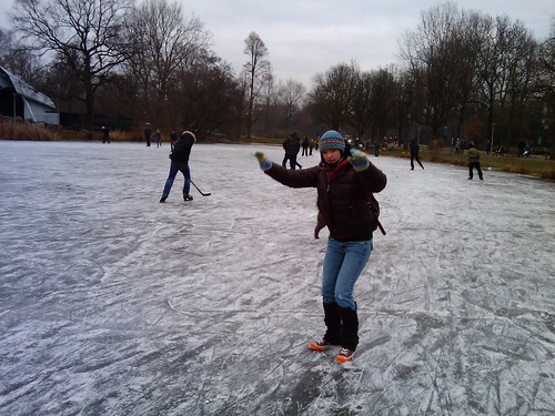 Frozen pond in Amsterdam