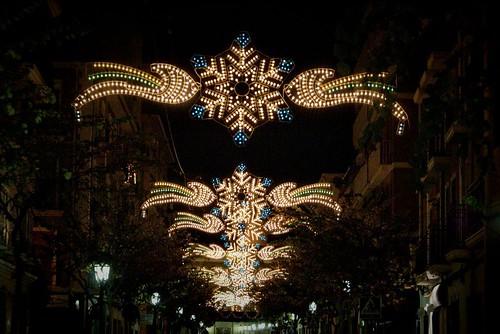Calle Colón en Navidad