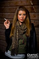 Sienna (Turbo Delta) Tags: wood uk england london film girl scarf model glamour photographer photoshoot cigarette smoke sienna skirt smoking paula actress gilbert elegant photograhy ragazza fumare darioc