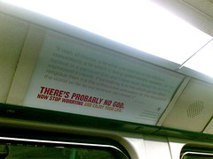 Atheist advert on the DLR