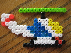 Perler Bead Helicopter (Kid's Birthday Parties) Tags: project beads craft helicopter bead beading hama perler craftproject hamabeads perlerbeads