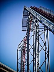 High Drop Roller coaster (*Seth) Tags: mountain metal track steel magic hill machine drop x flags scream roller six coaster x2