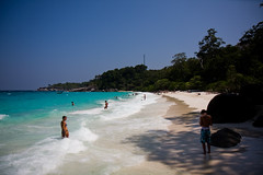 Thailand Similan Islands: white coral sand beaches