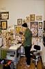 Adrian Willard in his corner of the studio Adrian Willard in