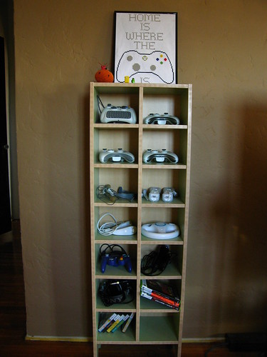 Controller shelf