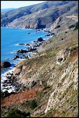 Muir Beach Overlook Coastline (Brooke Bettencourt-Berge) Tags: ocean california ca trees playing beach dogs water kids fun sand waves sanfranciscobayarea marincounty shovel muirbeach mounttamalpais millvalley northbay muirwoodsnationalmonument