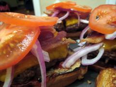 The Bacon Burger Grilled Cheese Melt (fritish) Tags: cheese tomato bacon burger onion grilledcheese cheeseburgerbacon