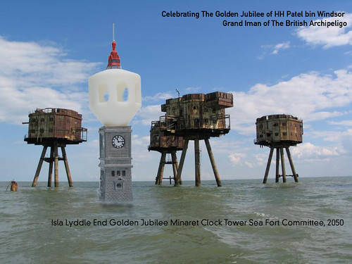 Isla Lyddle End Clock Tower Minaret Sea Fort (Lyddle End 2050)