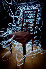 looking for a place to sit (Pedro Moura Pinheiro) Tags: lightpainting chair pedromourapinheiro 5dmk2 setexperimental setlongexposure setobjects rsa2011 dwcfflightpaint