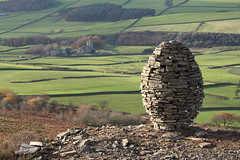 Clougha Egg Cairn, Birk Bank, Clougha, near Lancaster, Lancashire, UK (Ministry) Tags: uk art church stone hill egg bank dry lancashire richard valley installation land lancaster escher shilling cairn birk bowland forestofbowland clougha conder quernmore