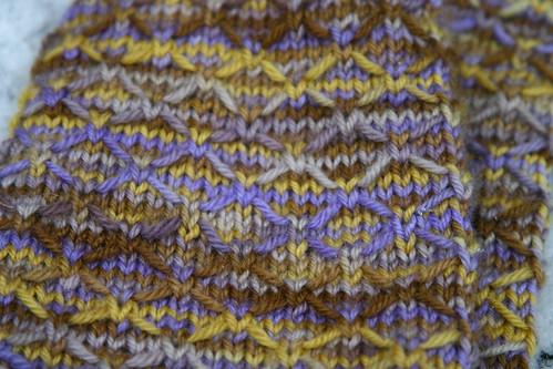 Another closeup of the stitch pattern