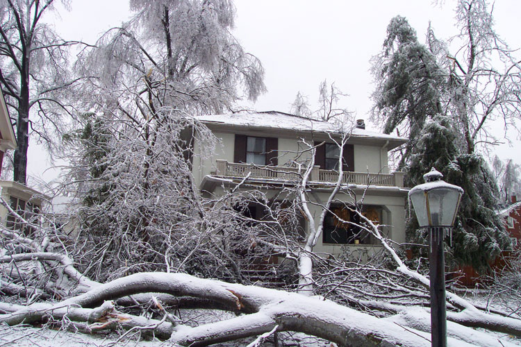 Our house in 2003 ice storm