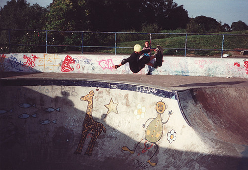 Scottish skater Jamie Blair riding the livi concrete bowl