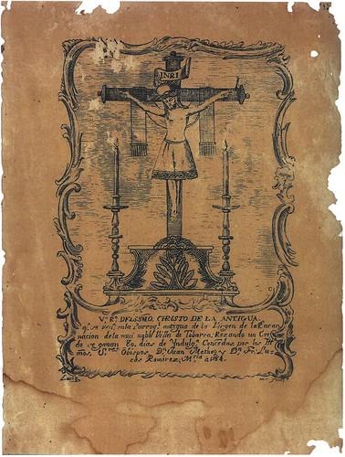 Cristo de la Antigua - Dibujo 1784