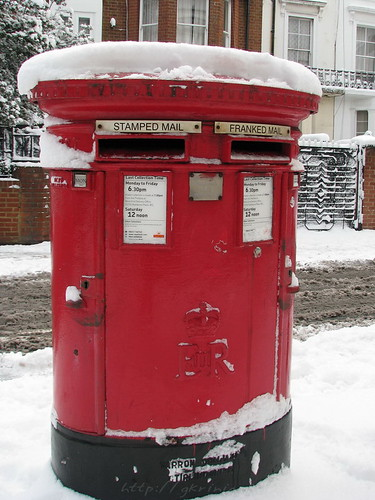 Snowed letterbox