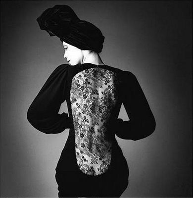 ysl mesh back dress by jeanloup sieff