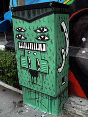 control de lineas (P3DRO [FASE]) Tags: street art latex volume controllers