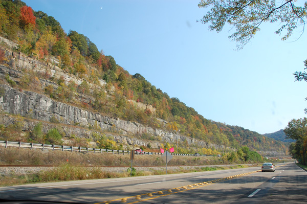 View of from our drive at Charleston, West Virginia