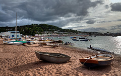 Rowing night at Teignmouth (rosyrosie2009) Tags: uk sea england seascape beach water clouds river landscape boats photography coast flickr photos wideangle stormy devon rowing tamron hdr westcountry coastpath riverteign polariser shaldon photomatix tonemapped devonandcornwall d5000 rosiesphotos teignmouthbackbeach nikond5000 tamronspaf1024mmf3545diiildasphericalif rosiespooner rosyrosie2009 rosemaryspooner rosiespoonerphotography