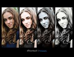 Casi (sbrian28 (Silvertouch Photography)) Tags: portrait blackandwhite color girl beautiful model pretty greeneyes curly