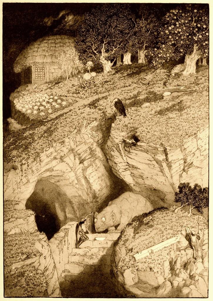 Sidney Sime - He Felt As A Morsel (1912)