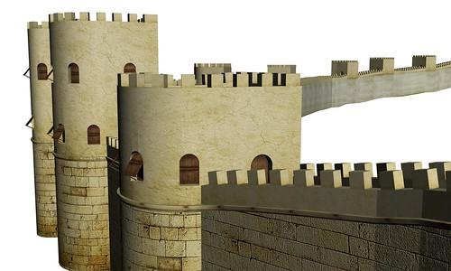 Recreación de las murallas de Iruña-Veleia