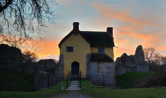 Stogursey Castle at Sunset (Bob Small photography.) Tags: uk sunset england sky orange west castle clouds nikon britain somerset landmark trust hdr landmarktrust westsomerset d40 easyhdr stogursey stogurseycastle