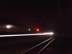 IMAG0206 (waveydavepike2007) Tags: speed train slow shutter signal