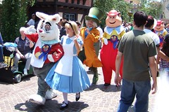 Alice in Wonderland on parade in Fantasyland
