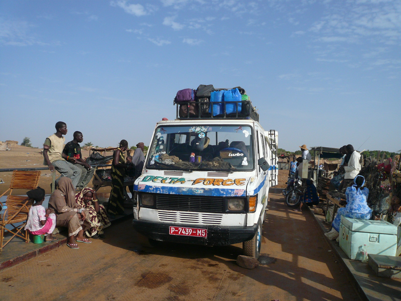 the bush taxi to mopti