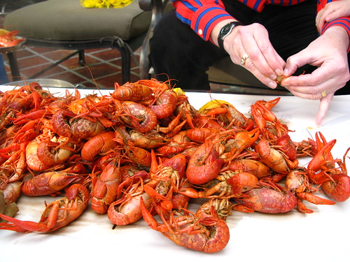 Crawfish pile