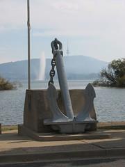 A big anchor! (LibrarianGems) Tags: fountain memorial australia anchor canberra act captaincookmemorialfountain lakegriffenberley