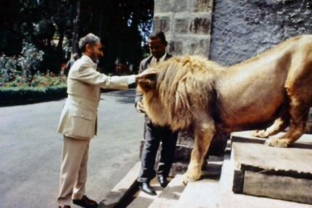 Rastafari selassie i flickr emperor haile selassie i with one of his lions m4hsunfo