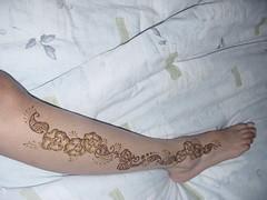 11a (chibikoneko) Tags: foot indian leg henna