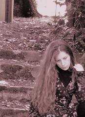 ... (Iulia Rotaru) Tags: sepia garden spring hp alone digitale vanity autoritratto littleone hpphotosmart iulia firstcamera giulliana19