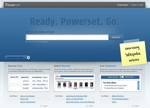 Powerset Homepage