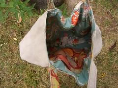 Pleated Beauty Bag inside