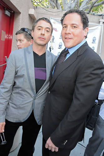 Robert Downey Jr. and Jon Favreau  2008