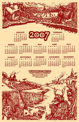 Wonderella 2007 calendar