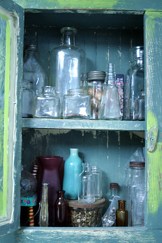 4. Collecting bottles and small vases