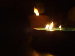 Wind Swept Flames II (ShadowSpirit.) Tags: light night dark candles glow candle smoke flames windy flame burn windswept lightatnight