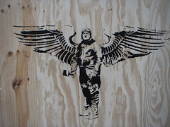 FAKE ANGELS CANT FLY (.FAKE.) Tags: street urban streetart stencils holland london art dutch amsterdam festival angel graffiti video interestingness stencil fake banksy best urbanart vandalism cans pilot peet artstreet amsterdamstreetart vndlsm fakeamsterdam artstreetfake