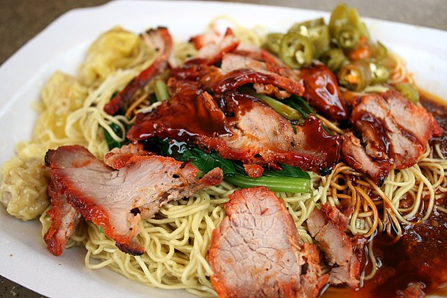 Barbeque Pork and Wantan Noodles
