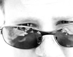 Day 296 - Gaining Some Perspective (archangel) Tags: portrait blackandwhite selfportrait mike me sunglasses self eyes bokeh shades 365 365days litwin mikelitwin archangel