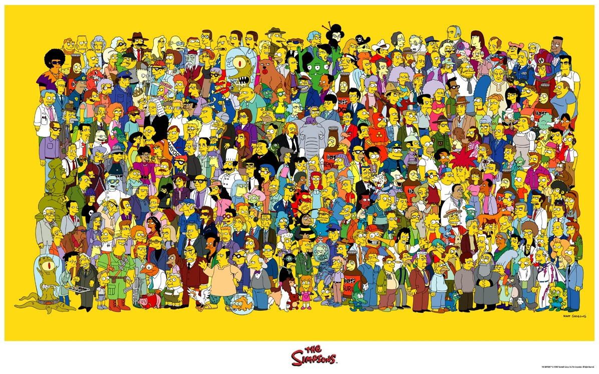 A superb rendering of the cast of characters of Futurama, from Al Gore to ...