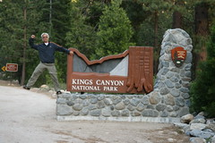 Chad entering Kings Canyon National Park