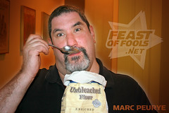 Bear Comedian Marc Peurye Loves to Snack on Bags of Flour