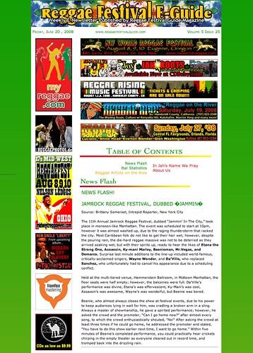 Reggae Festival EGuide - Jamrock Festival review