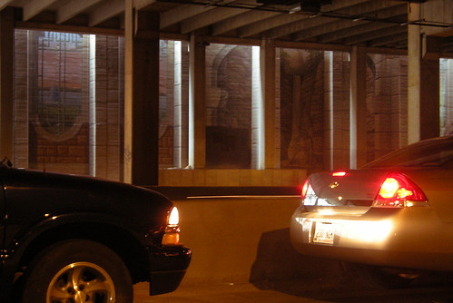 Driver's View of Madison's Dark Oxymoronic Subterranean Mural